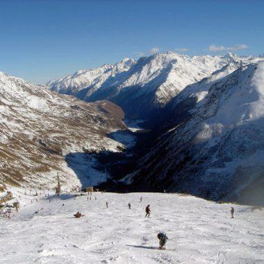 Панорама на Эльбрусе